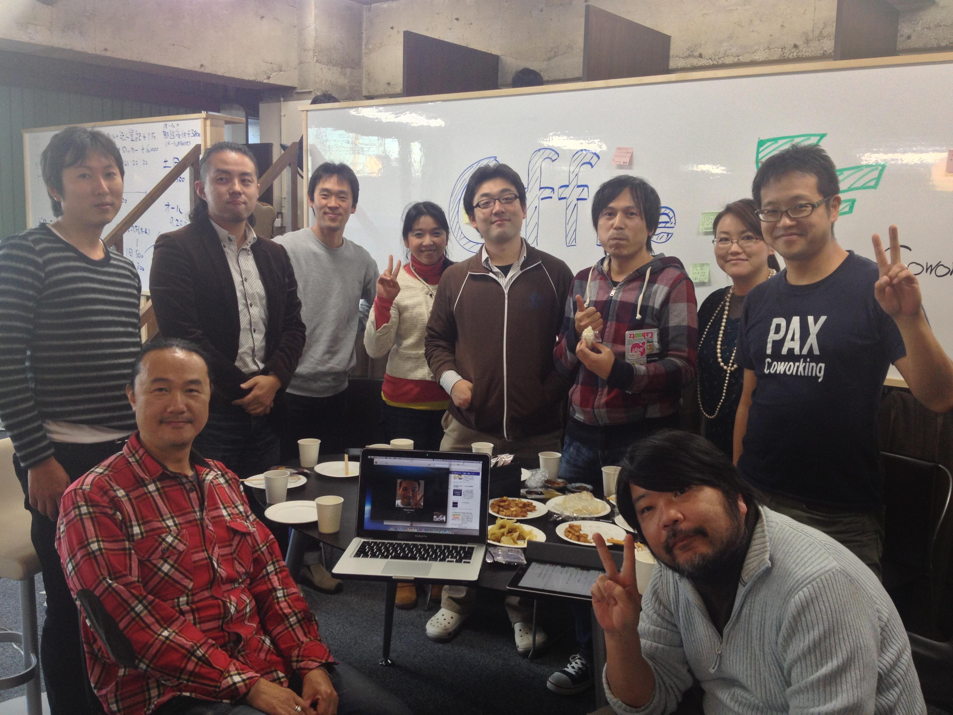 首都圏郊外型コワーキングスペースまつりとして、東京23区周辺のコワーキングスペース運営者の皆さんが来てくださいました。