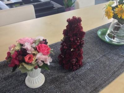 知念さんにお花などをいただきました。ありがとうございます!