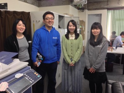 7Fスタッフになった当初。オーナーの星野さんと、店長の陽子さんと、スタッフのぬっきぃさんと。