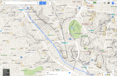 目黒駅周辺の地形