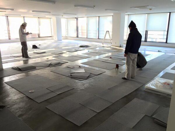 シェアオフィス&貸会議室の増床6Fの工事が始まりました。