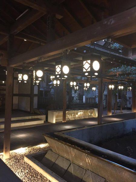 川越氷川神社「縁むすび風鈴」の廊下