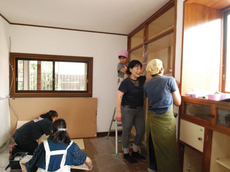 みどりの学び舎Pompom House 棚リメイク