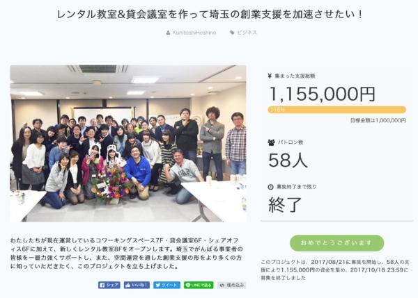 クラウドファンディングご支援ありがとうございました!