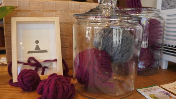 毛糸のオブジェ