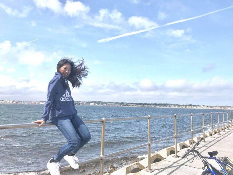 海沿いにて